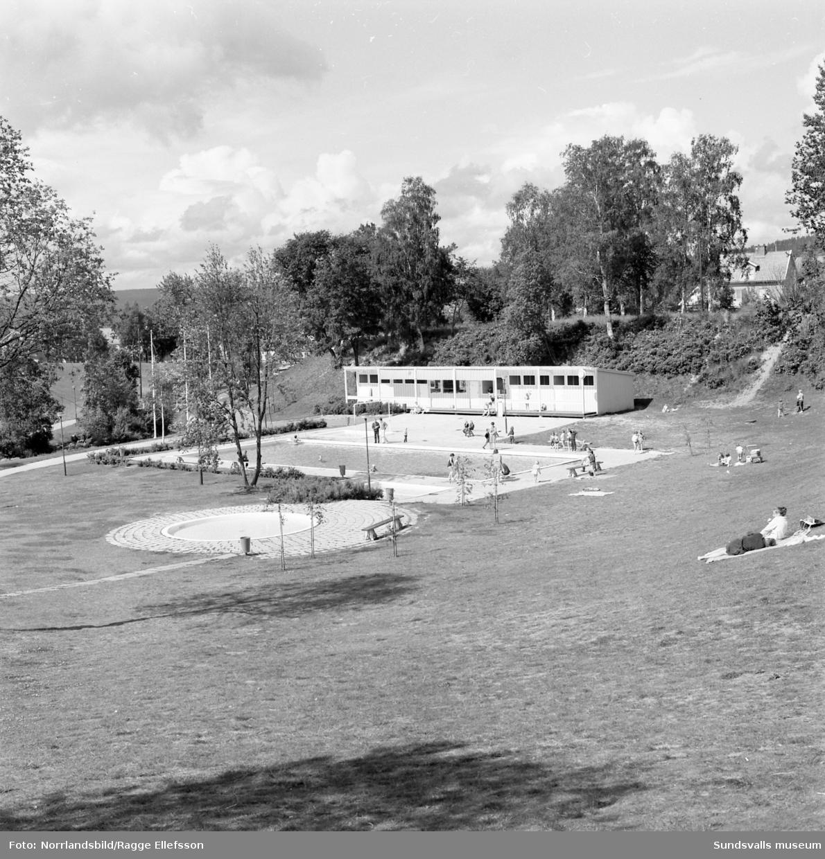 Översiktsbilder av Fagerdalsbadet.