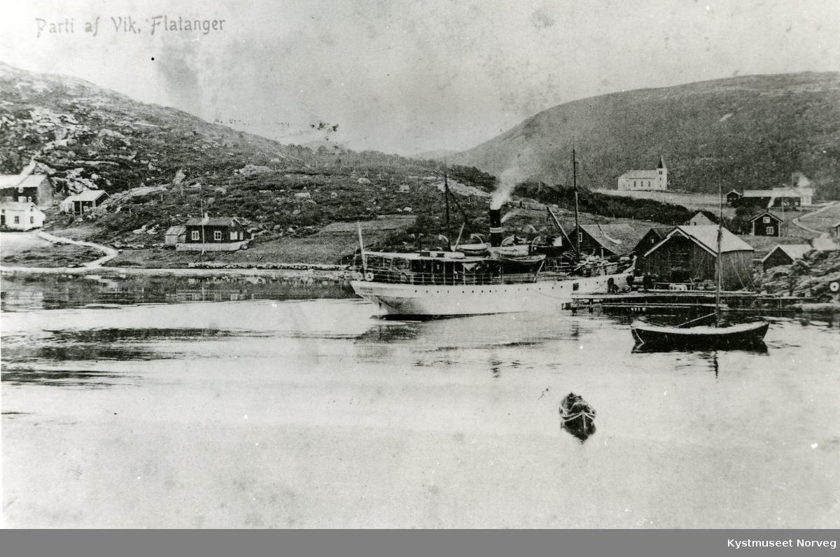 Dampskipsanløp i Flatanger