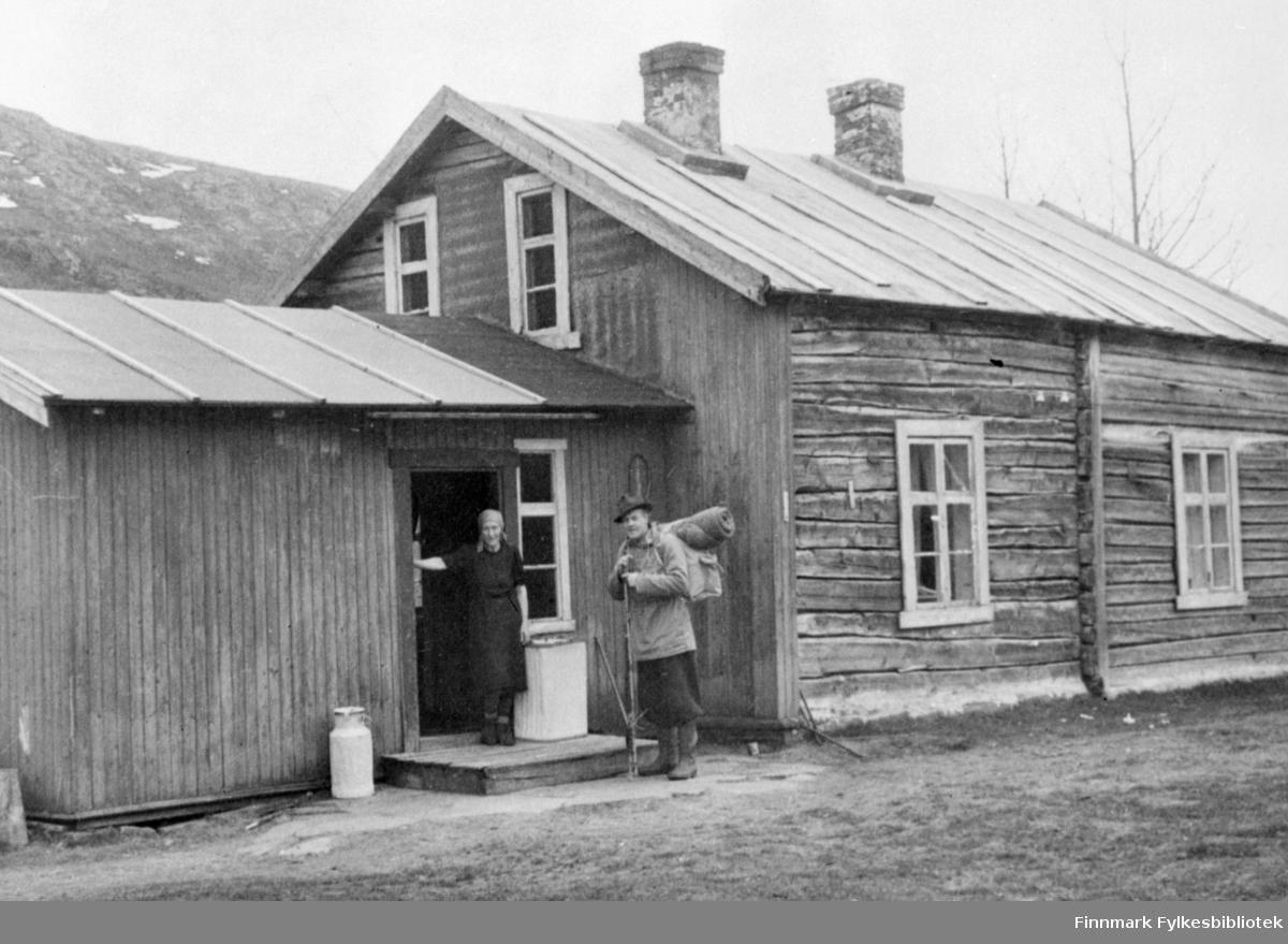 Grense Jakobselv. Bildet viser Torvald Hanslien's hjem