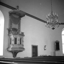 Stenkyrka socken. Stenkyrka kyrka. Predikstol. Före restaure