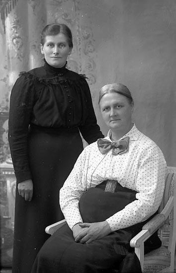 """Enligt fotografens journal Lyckorna 1909-1918: """"Gillberg, Fru Lyckorna""""."""