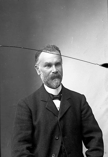 """Enligt fotografens journal nr 1 1904-1908: """"Norberg, Herr A. Ekenäs Stenungsund""""."""
