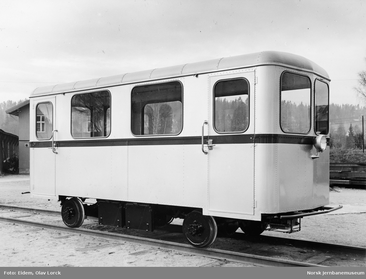 Akkumulatordrevet motortralle - mannskapsvogn - til Vinstra Kraftselskap ved levering