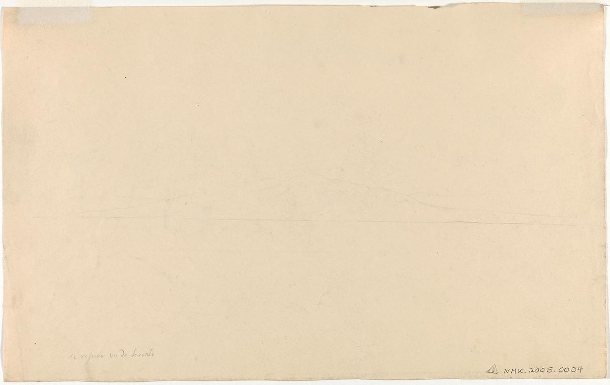 Vesuv sett fra Sorrento [Tegning]