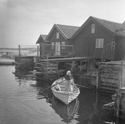 Postroddare Gerda Nilsson, Flatholmen 1953