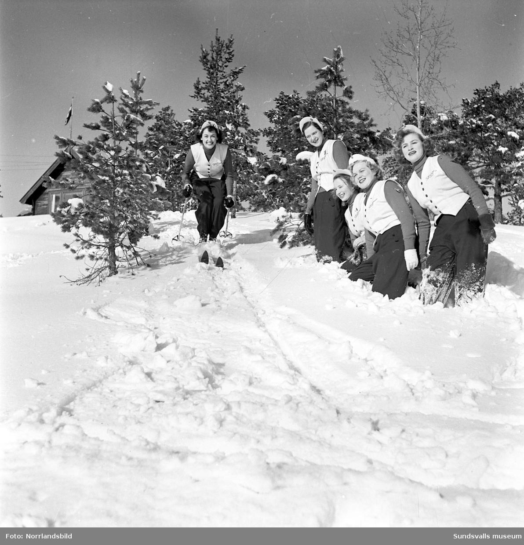 Skidspelsflickorna på Norra berget.