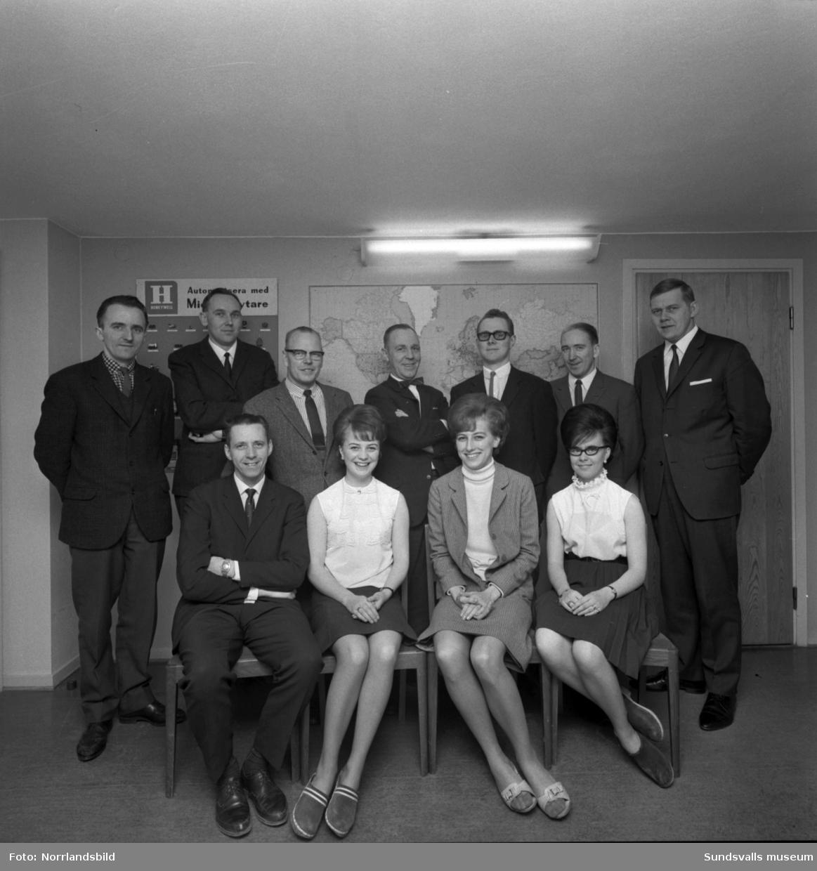 Honeywell, gruppfoto av personalen.