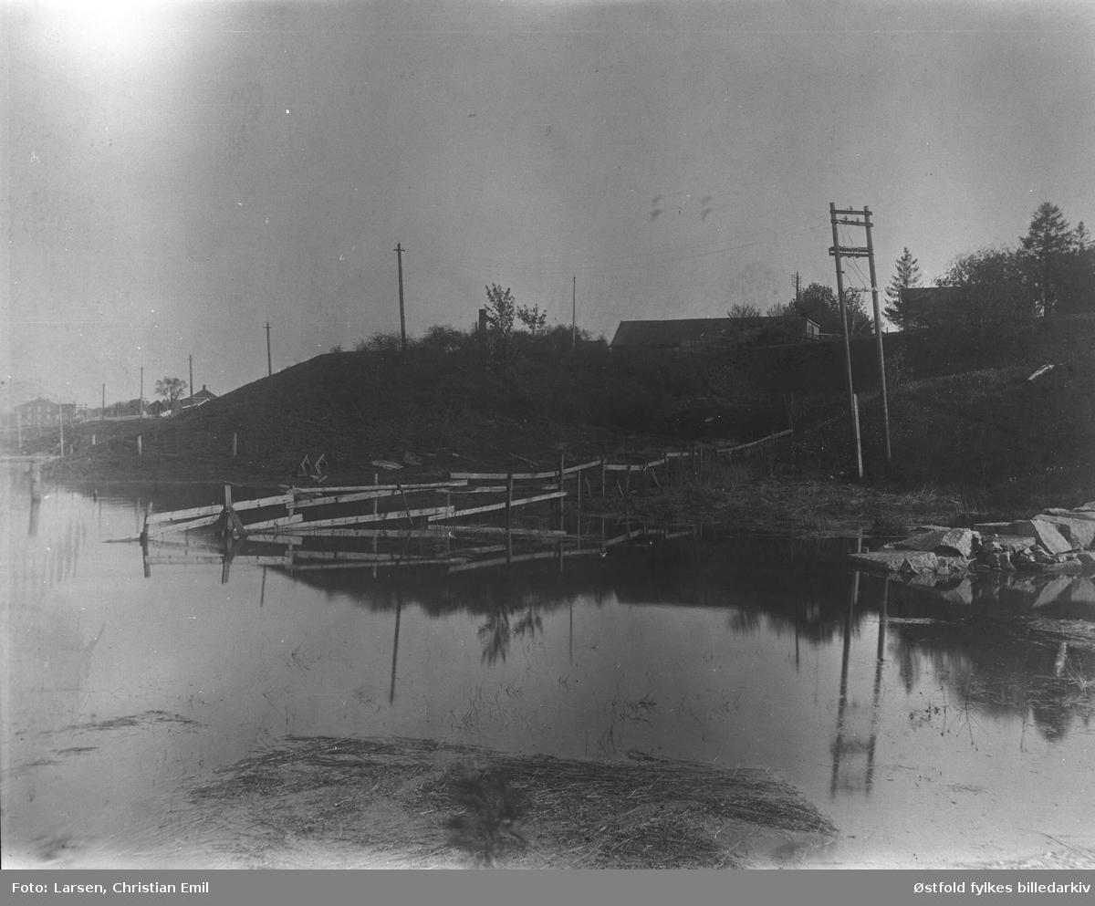 """Børarmen"", Olavsvollen mot Glomma i nord, i Sarpsborg, ca. 1925."