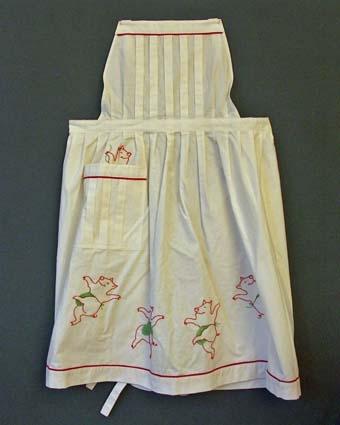 Julförkläde broderat med grisar, förkläde 1, tävlingsvinst.Pris 228:-, AT x td