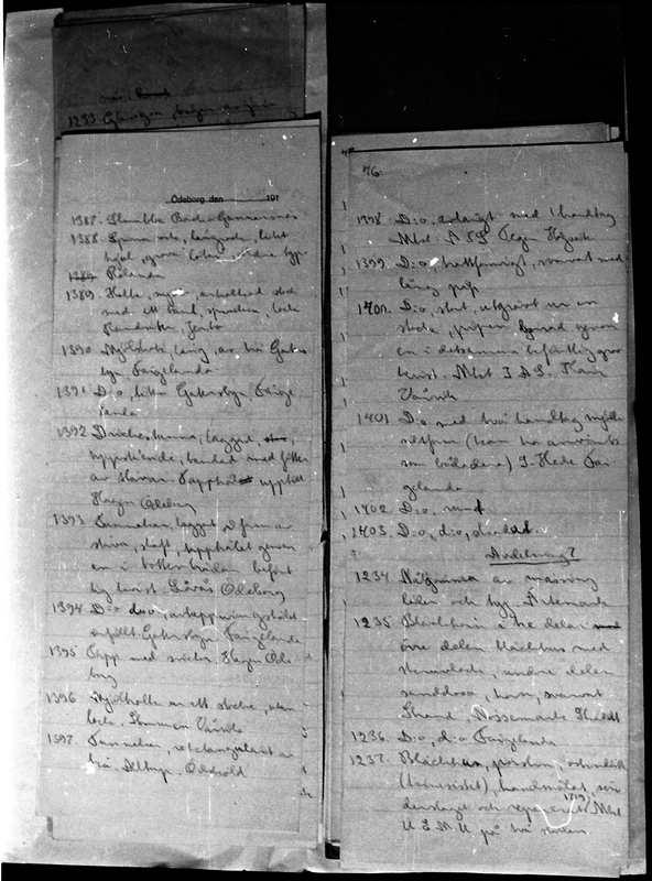 Gösta Bergs katalog 1921. Ödeborgs fornsal