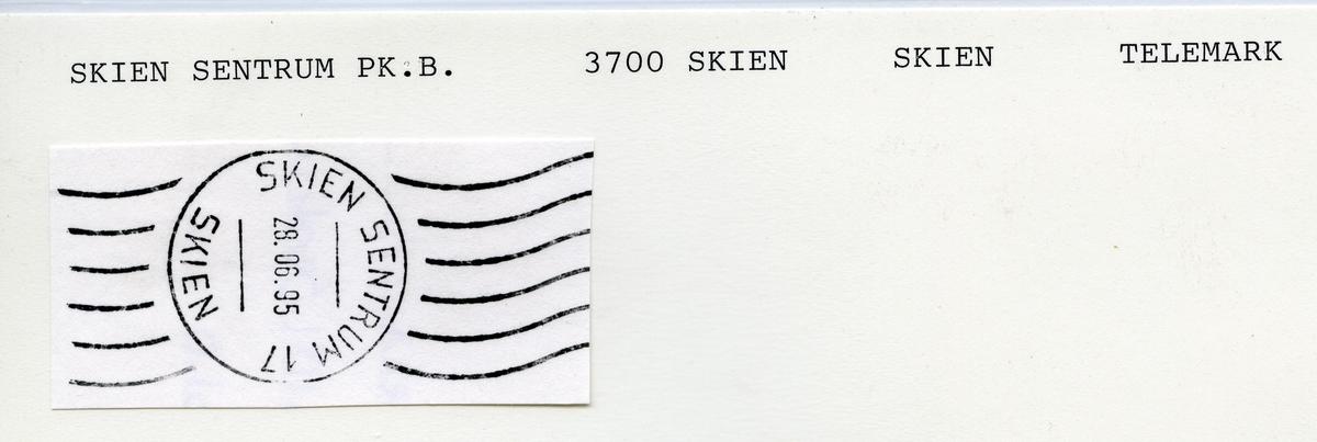 Stempelkatalog  3700 Skien, Skien Kommune, Telemark