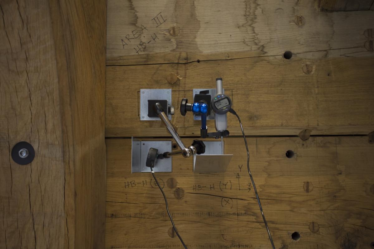 En kopia av Vasas skrovsida är på KTH för att genomgå mekaniska tester för att kolla dess hållbarhet.