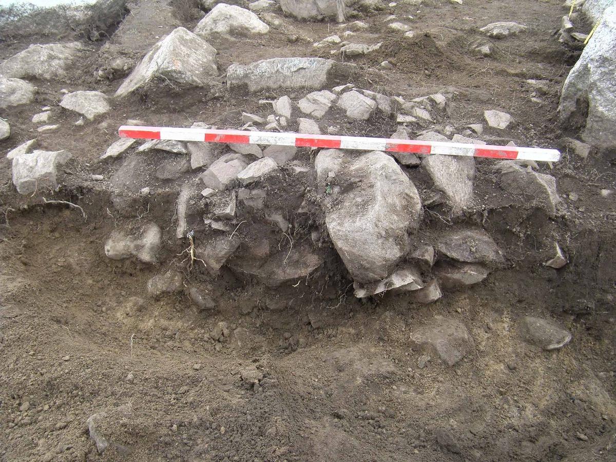 Arkeologisk slutundersökning, stenpackning A62540 och kokgrop A62674, Berget, Gamla Uppsala, Uppsala 2008