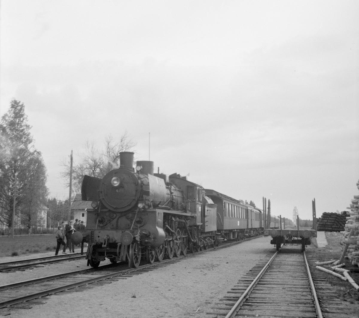 Fra veterantogturen Kongsvinger-Hamar for A/L Hølandsbanen og Svenska Järnvägsklubben.