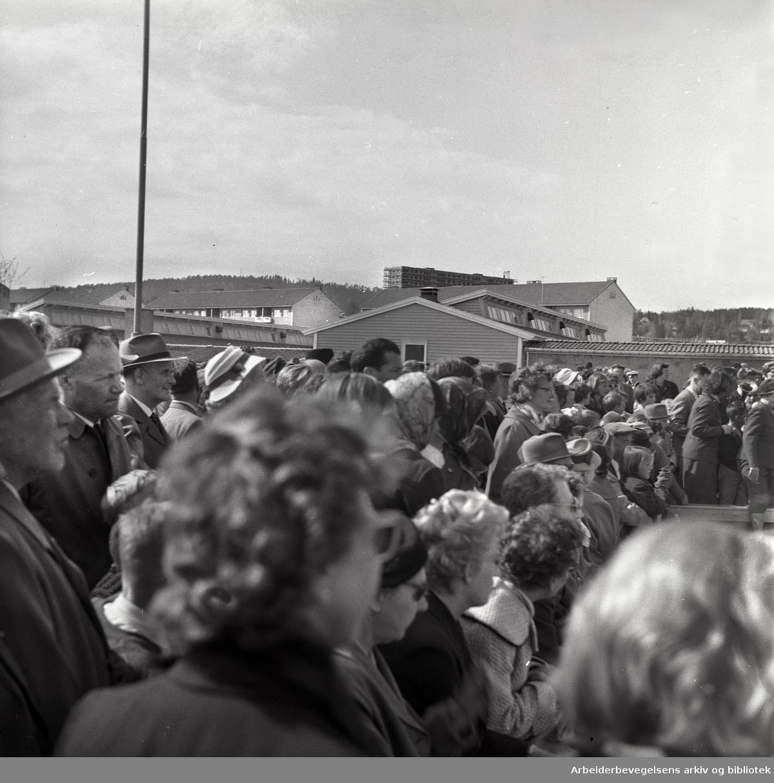 1. mai 1961 i Oslo.Grorud.