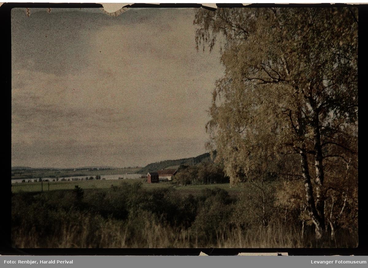 Landskap i Levanger, Mo gård fra Lillemarksbakkene.
