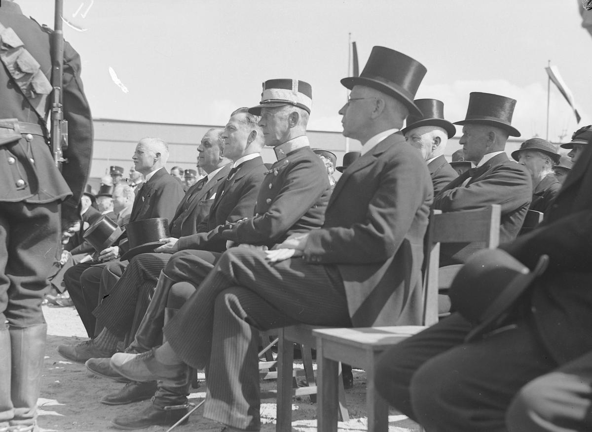Jubileumsutstillingen i Levanger 1936 - prominente gjester