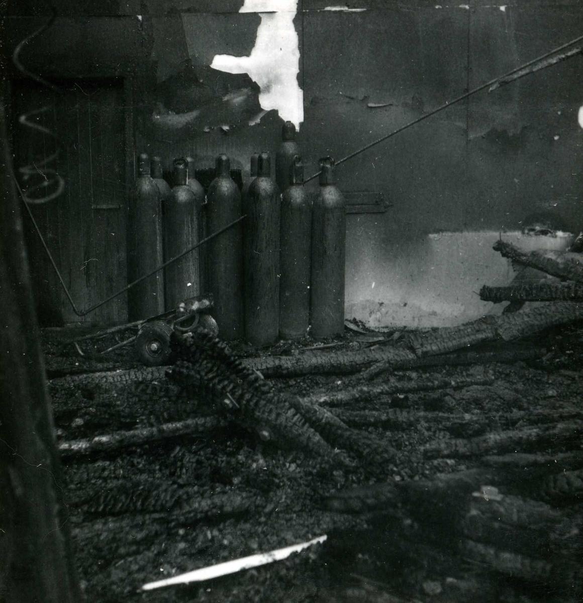 Songa 171, restar fra brann