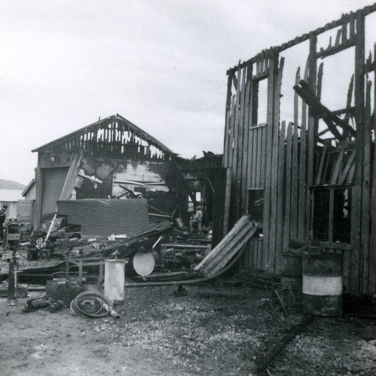 Songa 173, bygning brent ned