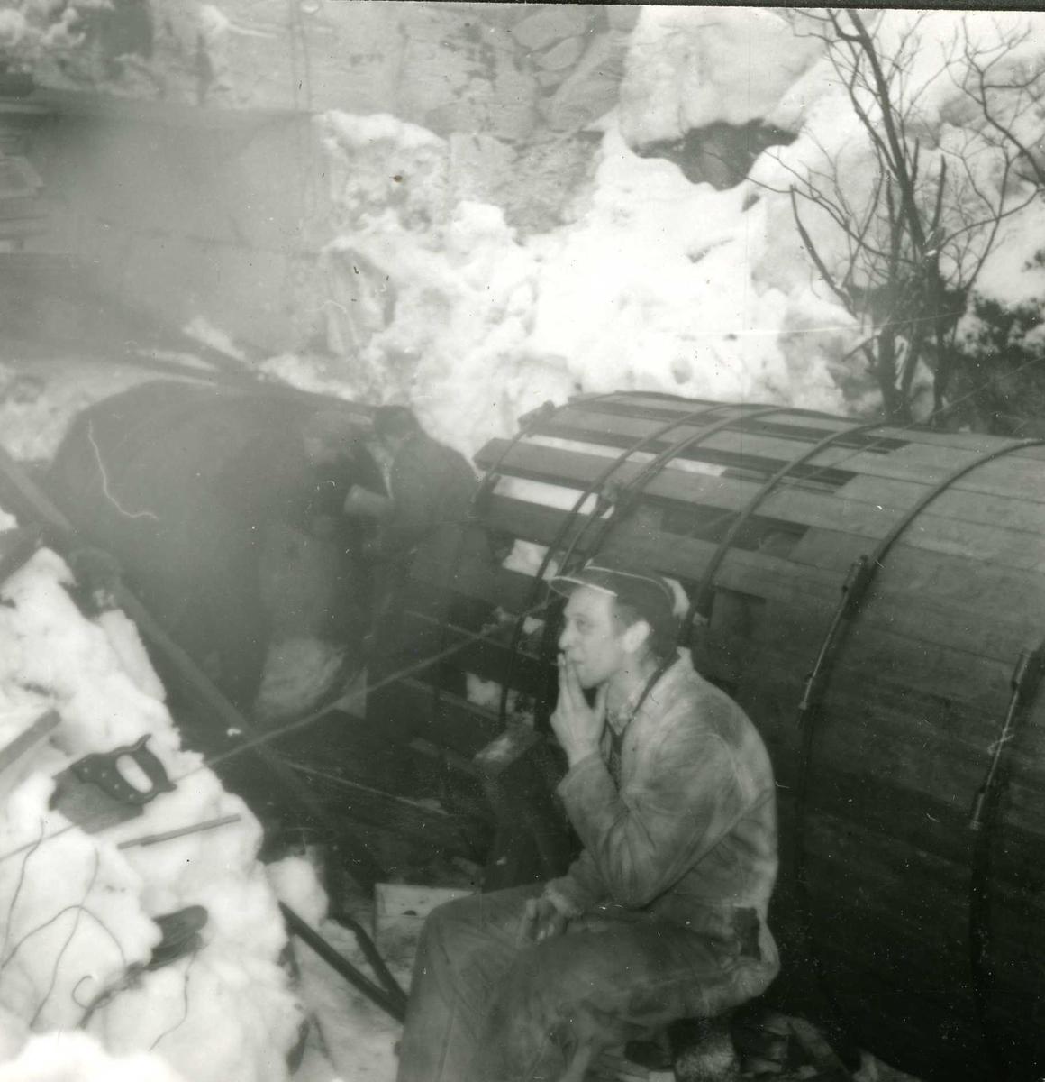 184-6 Personer i arbeid Hyllandsfossen kraftverk