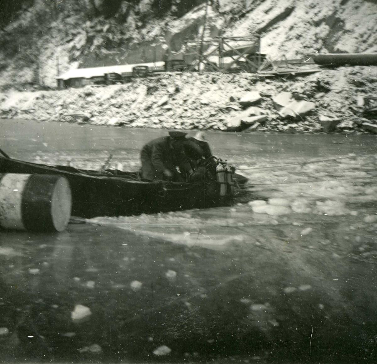 Dalen, lastebil i vannet 7, 13.12.58