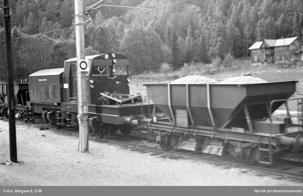 Roterende snøplog type DiR2 nr. 506 med arbeidstog