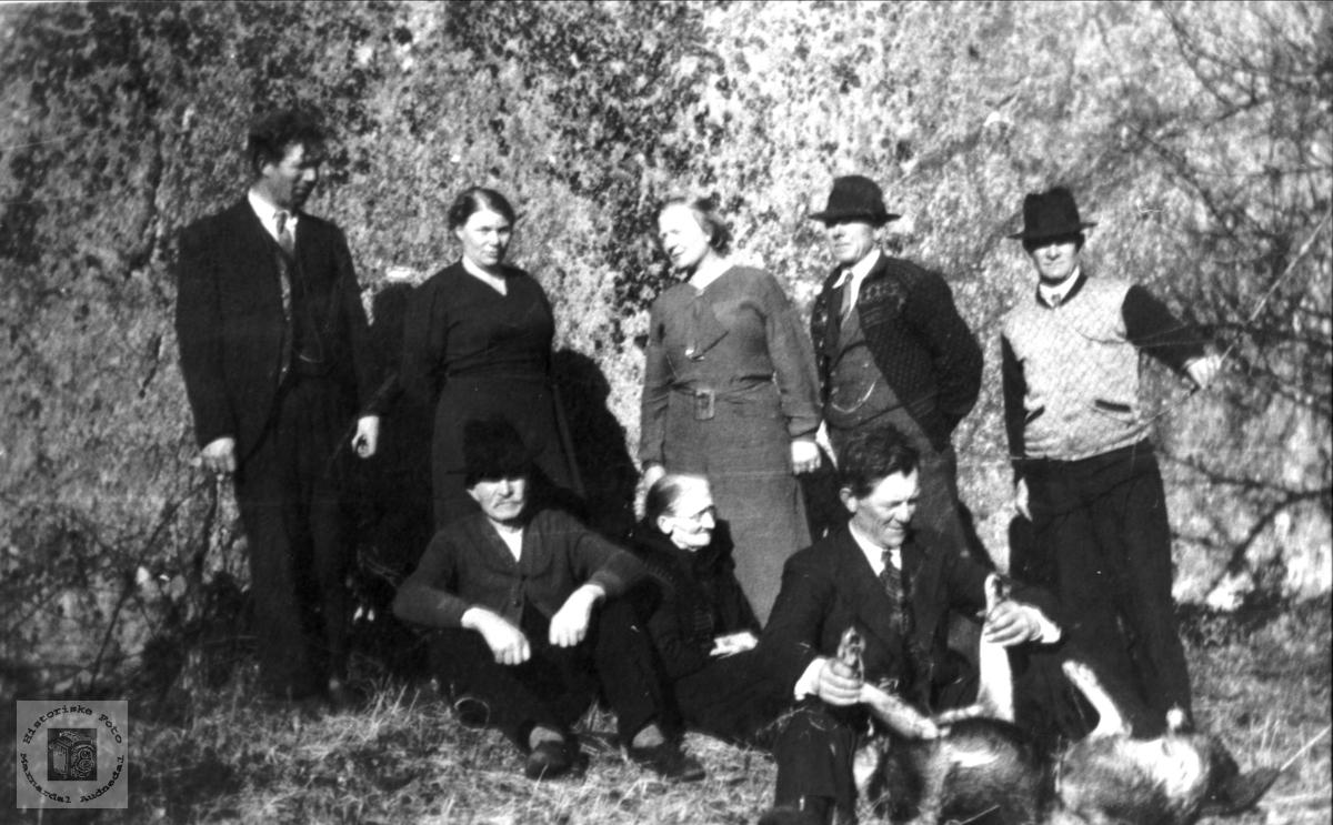 Personer fra  Øvre Homme, Bjelland