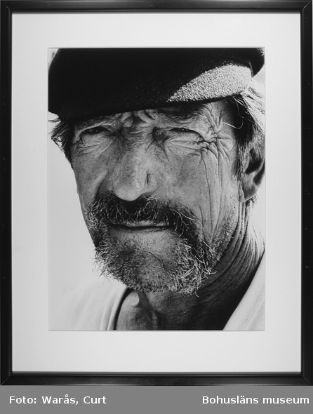 Sigvar Carlgren, fiskeveteran på Nordkoster. Juni 1980.