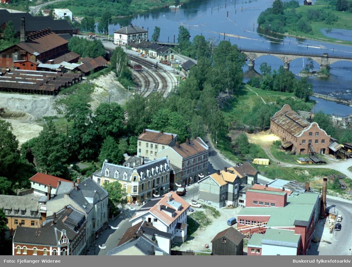 Hønefoss Hønefoss jernbanestasjon teglverket Øverst i Stabellsgate Hønefoss bruk 1961