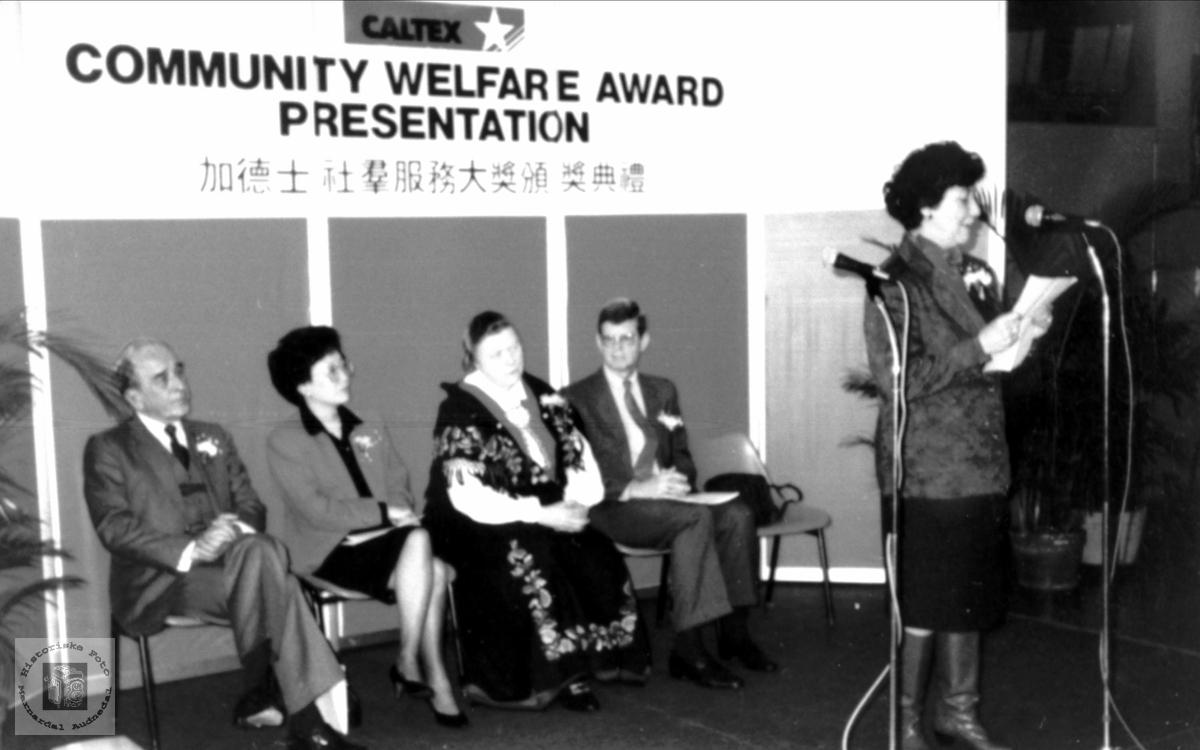 """Community Welfare Award Presentation"""