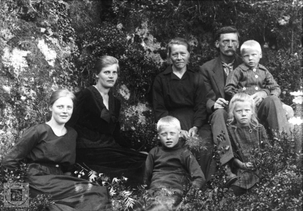 Familiegruppe Anna Og Albert Sveinall Nyvoll Mfam Historiske