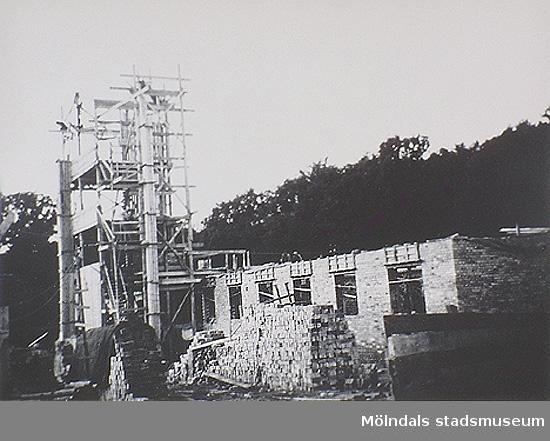 Lackarebäckshemmet under uppbyggnad, 1950.