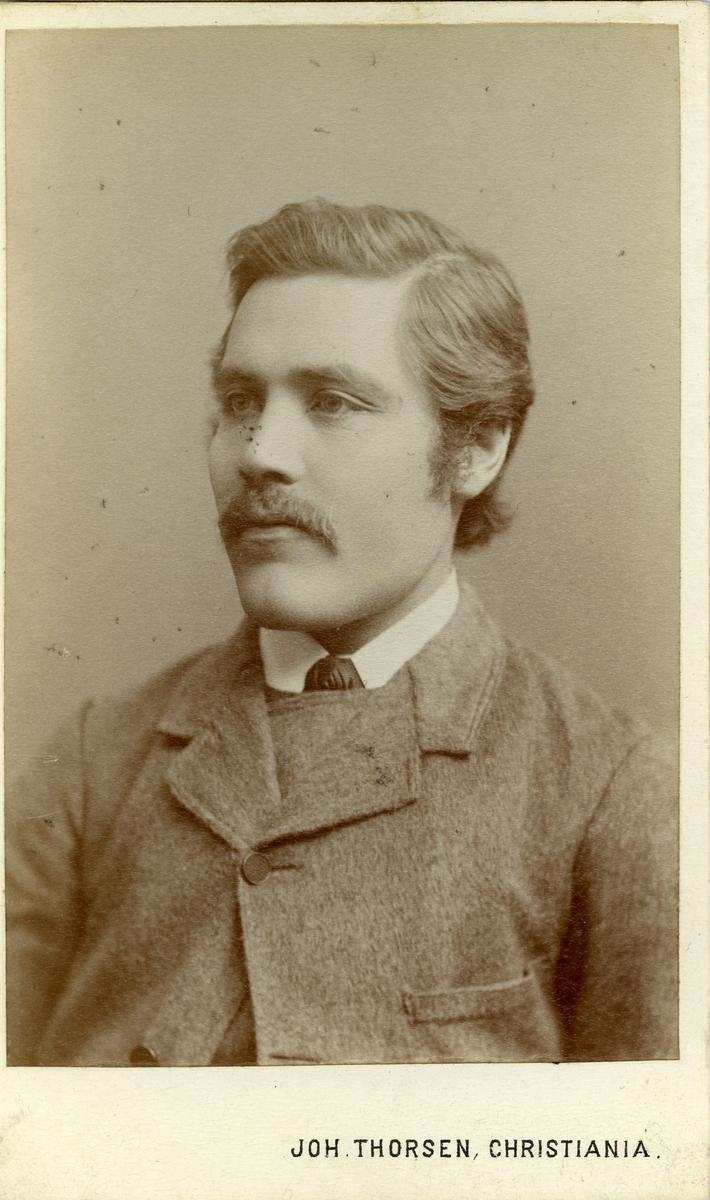 Portrett i halvfigur av ung mann