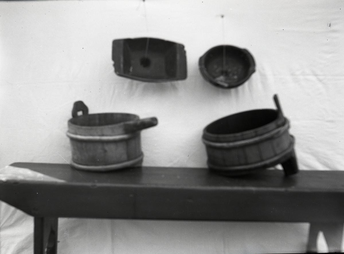 Mjølke-eller brimtrefter og trøg frå Øye, Vang i Valdres