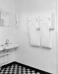 "Håndkleautomat på ""NAG""."