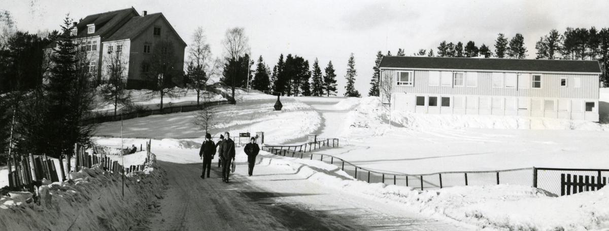Rogne gamle og nye skole i Øystre Slidre, Valdres.