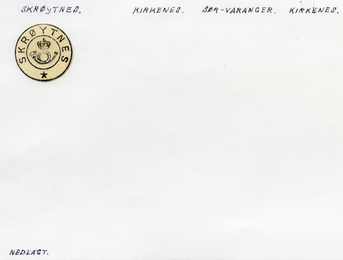 Stempelkatalog Skrøytnes, Sør-Varanger kommune, Finnmark