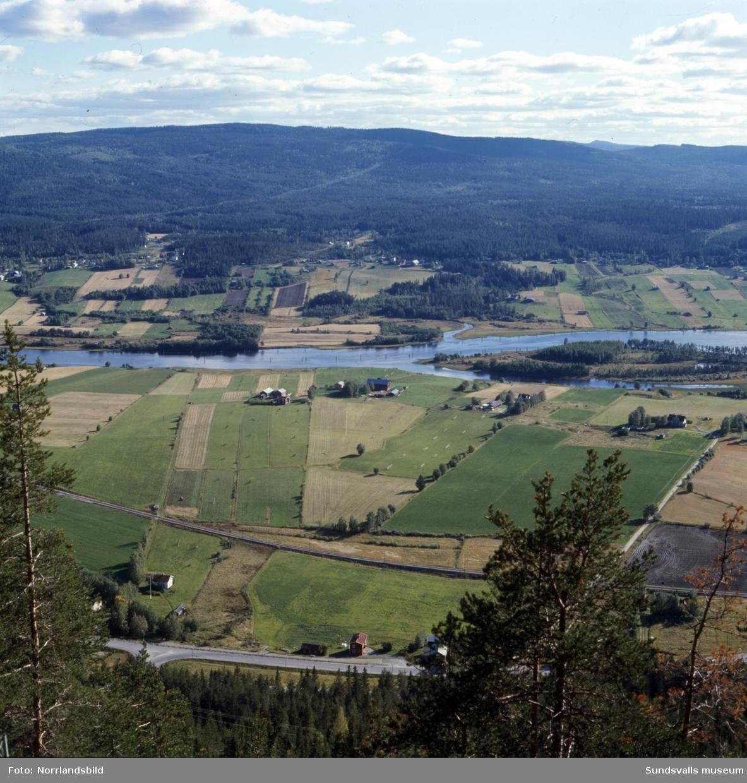 Utsikt från Getberget i Fränsta.