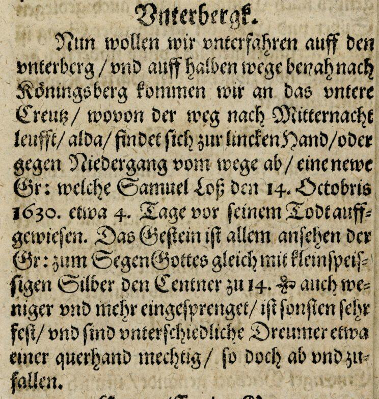 Utdrag fra J.F. Nortmanns bok om Sølvverket fra 1631 (Foto/Photo)