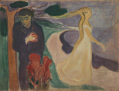 Maleriet Løsrivelse av Edvard Munch. Foto/Photo