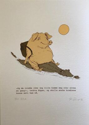 Espen. 21x29,7cm DGA-trykk (Digital Graphic Art) på Hahnemühle William Turner 310 gsm. Opplag: 50 Signert og nummerert - kr 1200 (Foto/Photo)