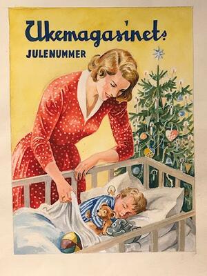 William Lunden, original tegning, Ukemagasinets julenummer, 46x57cm, kr 5000 Selges på vegne av familien. (Foto/Photo)