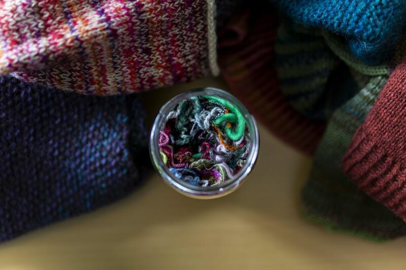 garn i syltetøyglas (Foto/Photo)