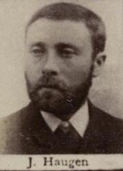 Sjakthauer Johan J. Haugen (1857-1917) (Foto/Photo)