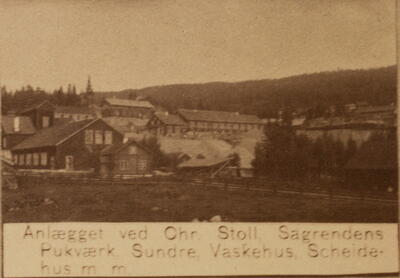 Historisk bilde, Saggrenda, gruveanlegget. (Foto/Photo)