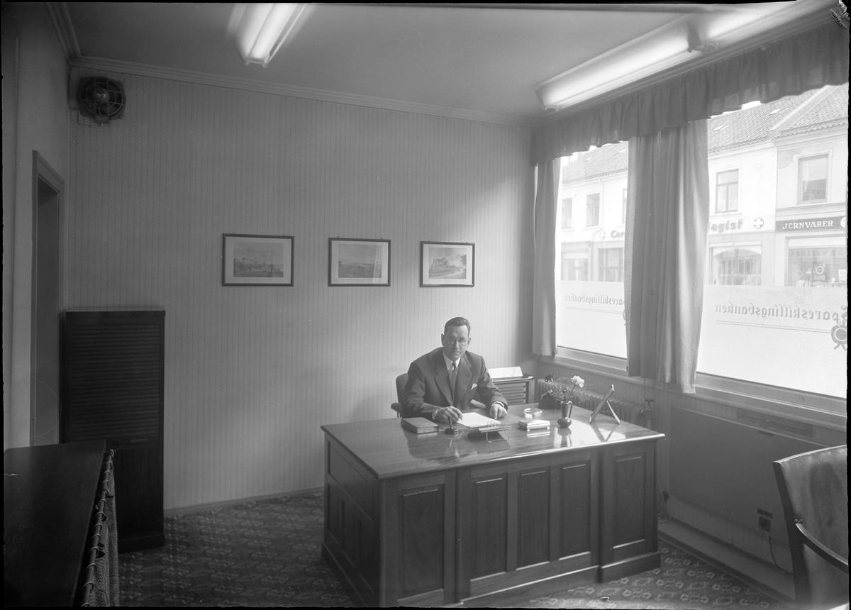 Spareskillingsbanken, banksjefens kontor