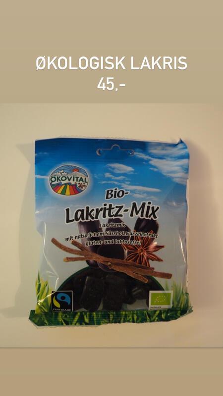 Økologisk lakris kr 45,- (Foto/Photo)