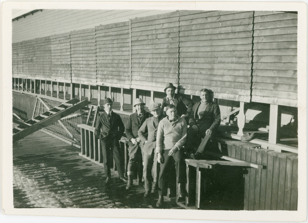 Nya badhuset iordningställes för vintern, Uppsala 1925