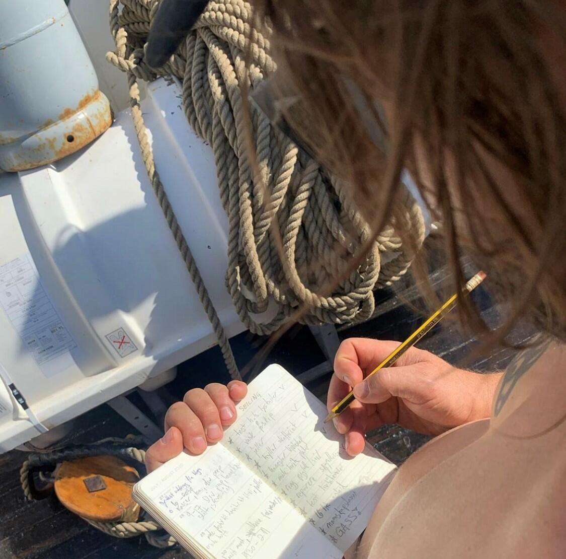 mann som skriver notater i en bok (Foto/Photo)