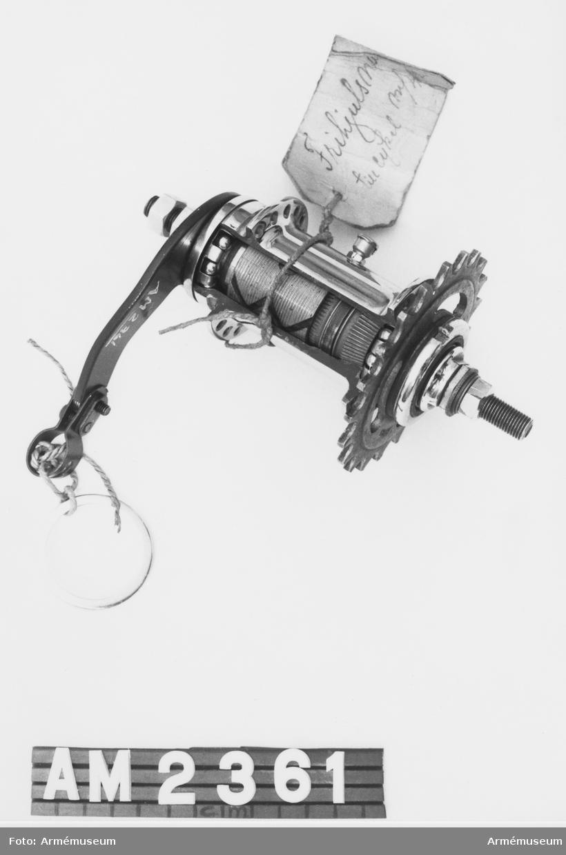 Modell från konstruktionskontorets modellkammare, märkt nr:18-6.
